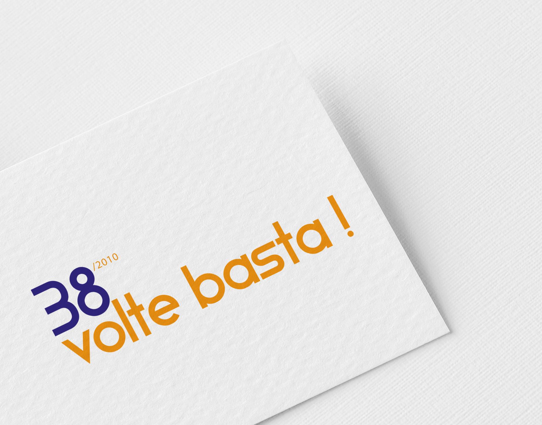 """Progetto """"38 volte basta"""" Logo - Elisa Della Chiesa"""